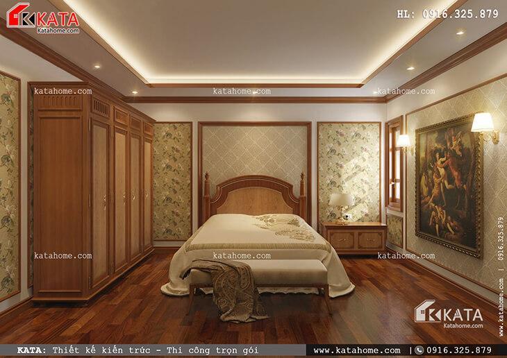 Thiết kế phòng ngủ của con gái cho mẫu nhà phố 4 tầng tân cổ điển vô cùng tiện nghi và được bố trí hợp lý (1)
