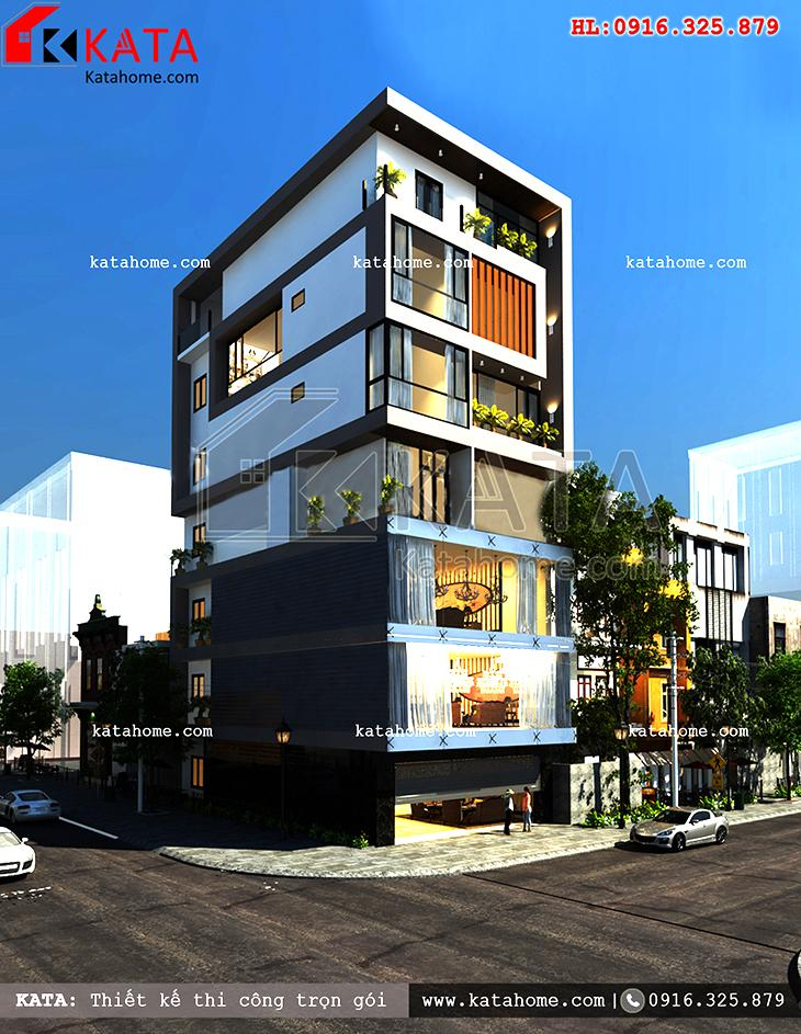Thiết kế nhà phố 5 tầng kết hợp kinh doanh - Mã số: NP 78051 (2)