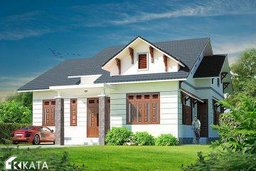 Mẫu thiết kế biệt thự nhà vườn ở nông thôn cấp hiện đại, mái Thái lạ mắt tại Sơn La