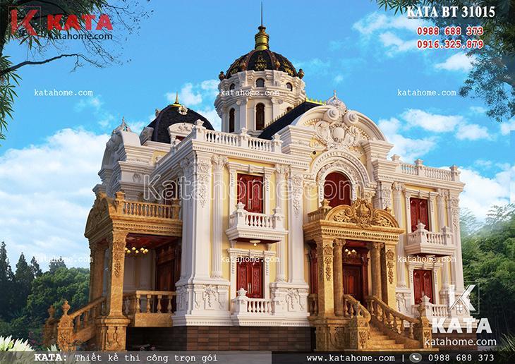 Thiết kế bản vẽ lâu đài 3 tầng tân cổ điển tại Hà Giang – Mã số: BT 31015