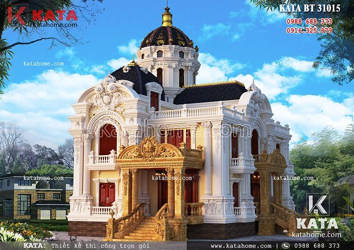 Mẫu thiết kế nhà biệt thự 3 tầng tân cổ điển vô cùng đẹp mắt