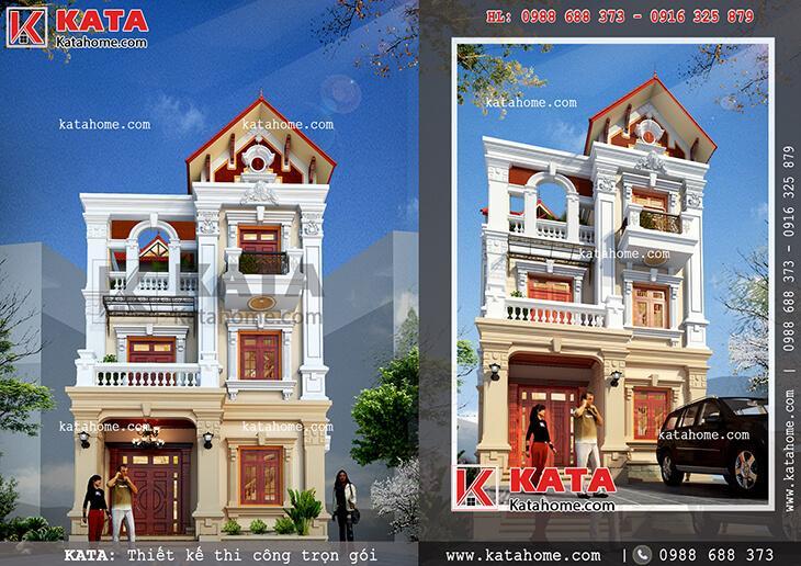 Thiết kế biệt thự tân cổ điển 3 tầng tại Vĩnh Phúc – Mã số: BT 31010
