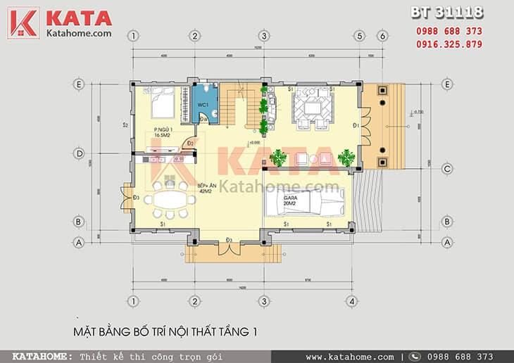 Biệt thự pháp 3 tầng tân cổ điển mặt tiền 10m