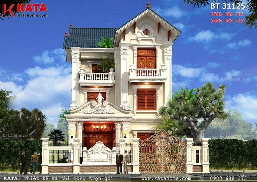 Biệt thự phố 3 tầng tân cổ điển đẹp tại Hải Phòng – Mã số: BT 31125