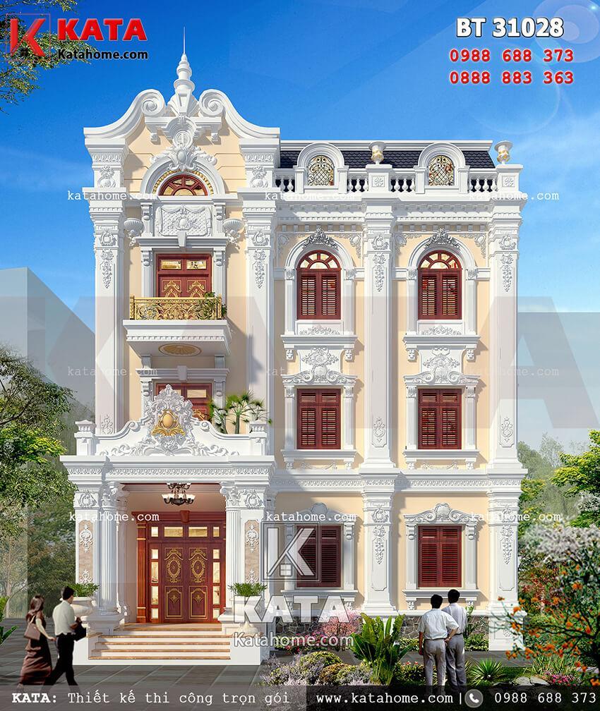 Mẫu thiết kế biệt thự vườn 3 tầng tân cổ điển vô cùng đẳng cấp