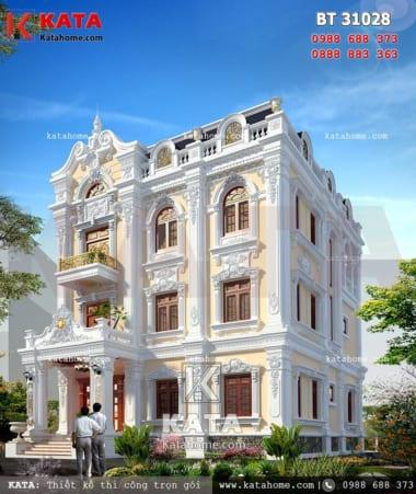 Mẫu biệt thự 3 tầng tân cổ điển đẹp tại Quảng Ninh diện tích 150m2