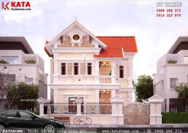 Mẫu biệt thự đẹp 2 tầng tân cổ điển 150m2 với mặt tiền 10m
