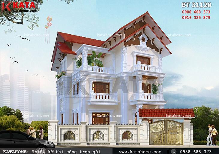 Biệt thự Pháp 3 tầng tân cổ điển tại Thanh Hóa – Mã số: BT 31120