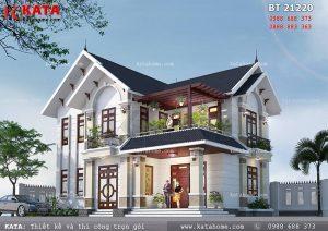 Mẫu thiết kế nhà mái thái 2 tầng độc đáo tại Hưng Yên