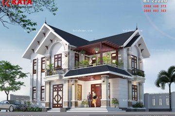 Thiết kế biệt thự 2 tầng mái thái 120m2 tại Hưng Yên