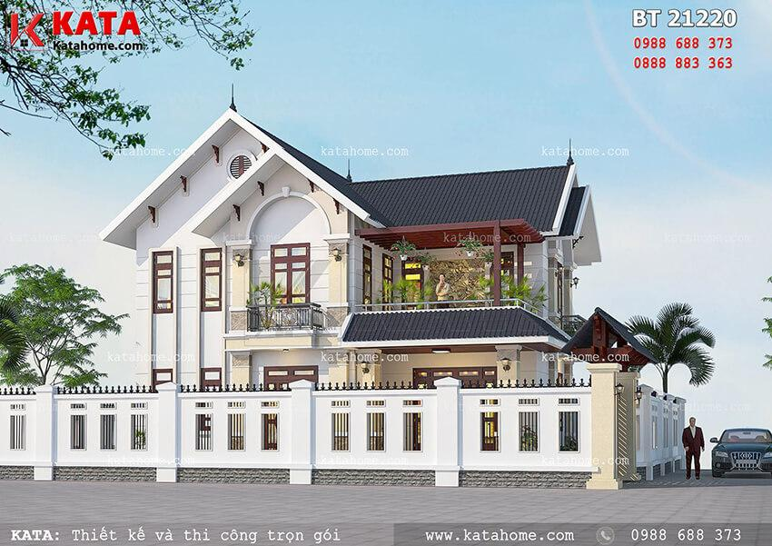 Mẫu thiết kế biệt thự mái thái với chi phí xây dựng không quá lớn diện tích 120m2