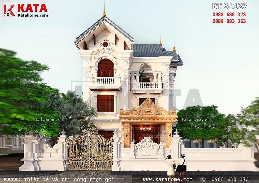 Biệt thự 3 tầng mái thái tân cổ điển tại Bắc Ninh – Mã số: BT 31127