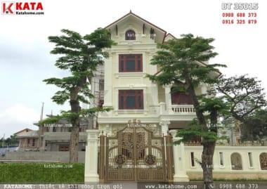 Mẫu thiết kế biệt thự kiến trúc pháp 3 tầng đẹp mái thái