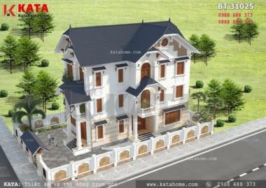 Mẫu biệt thự đẹp 3 tầng mái thái