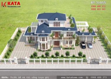 Mẫu thiết kế nhà đẹp 3 tầng mái thái