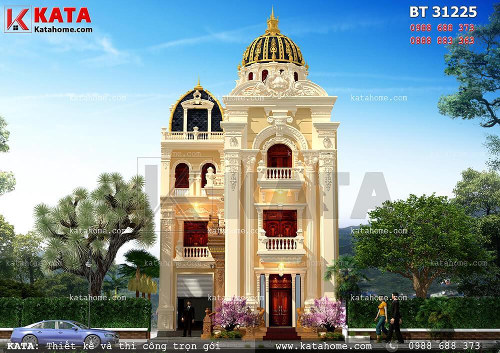 Mẫu thiết kế biệt thự lâu đài 3 tầng cổ điển giúp nâng tầm thương hiệu của Công ty thiết kế kiến trúc Kata