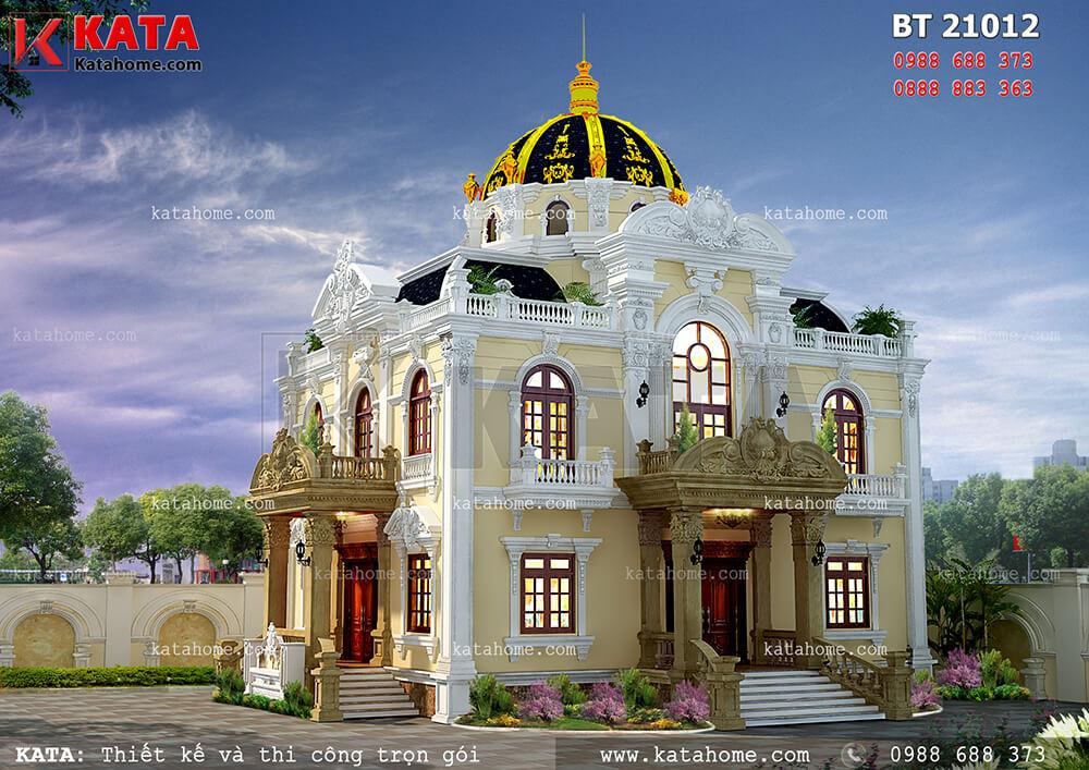 Mẫu nhà 2 tầng đẹp kiến trúc tân cổ điển tại Hà Nội – Mã số: BT 21012