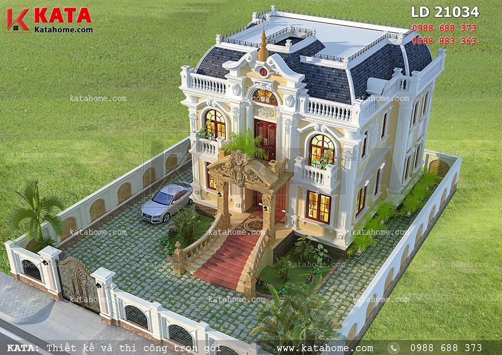 Thiết kế biệt thự lâu đài 2 tầng