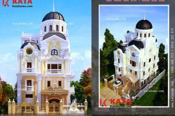 Thiết kế lâu đài 4 tầng đẹp