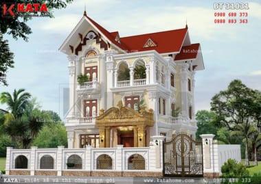 mẫu thiết kế biệt thự đẹp 3 tầng