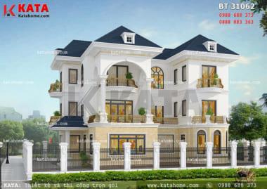 Bản vẽ nhà 3 tầng hiện đại, lạ mắt tại Quảng Ninh – Mã số: BT 31062