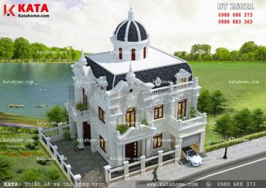 mẫu biệt thự lâu đài 2 tầng đẹp