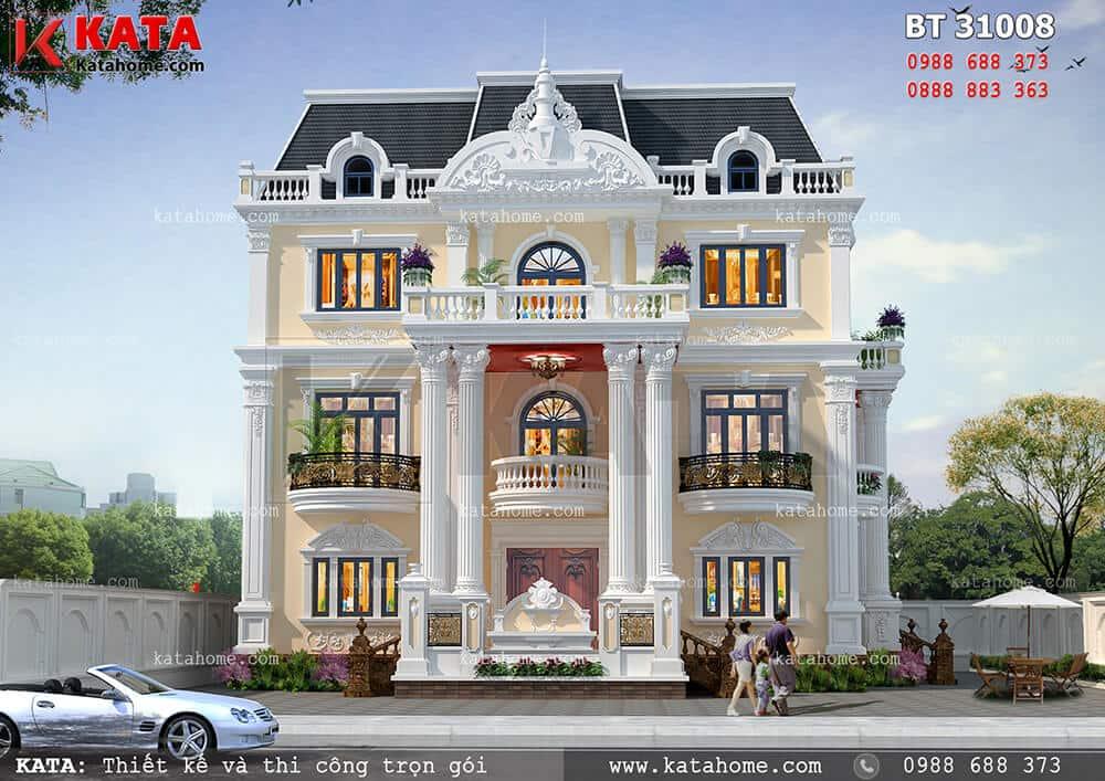 Thiết kế dinh thự 3 tầng tân cổ điển tại Bình Dương – Mã số: BT 31008