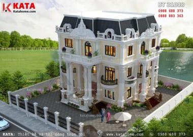 mẫu thiết kế lâu đài dinh thự đẹp 3 tầng
