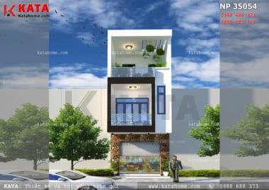 thiết kế nhà lô phố 3 tầng đẹp NP 35054