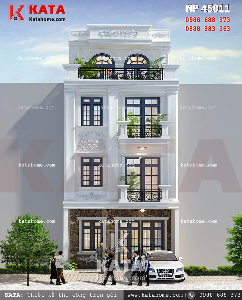 thiết kế nhà phố tân cổ điển