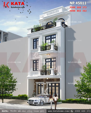 mẫu nhà phố 4 tầng đẹp NP 45011