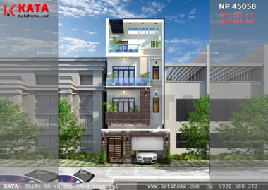 thiết kế nhà ống 4 tầng đẹp NP 45058
