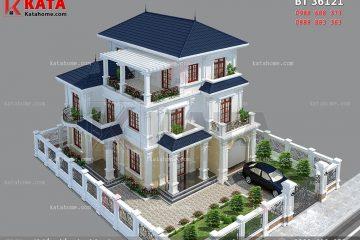 mẫu thiết kế biệt thự đẹp 3 tầng BT 36121