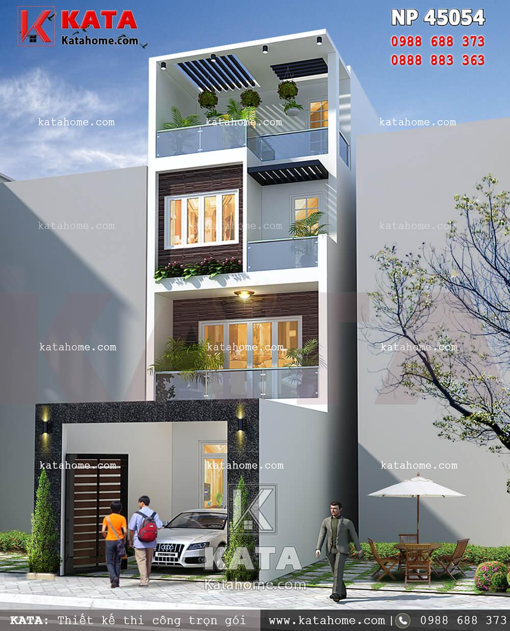 Mẫu nhà phố 4 tầng đẹp NP 45054