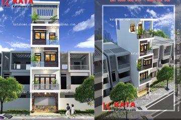 Kiến trúc các tầng của căn nhà ống 5 tầng hiện đại được sắp đặt so le lạ mắt