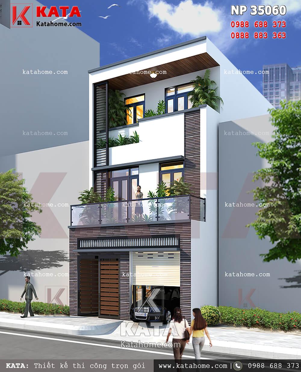 Tổng quan kiến trúc hiện đại của mẫu nhà 3 tầng đẹp có gara
