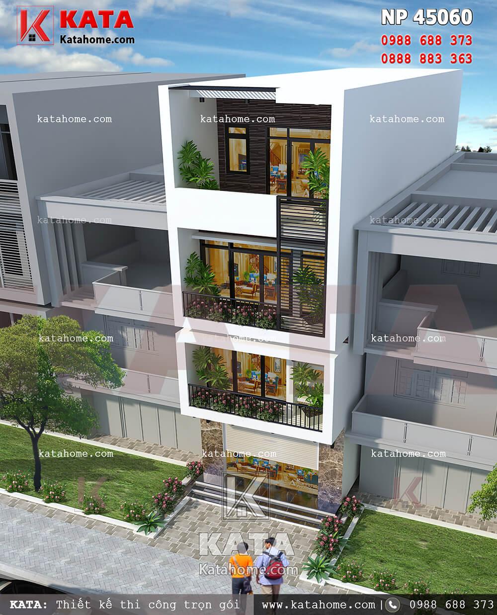 Căn nhà phố 4 tầng hiện đại trở nên sang trọng bậc nhất với hệ thống cửa kính