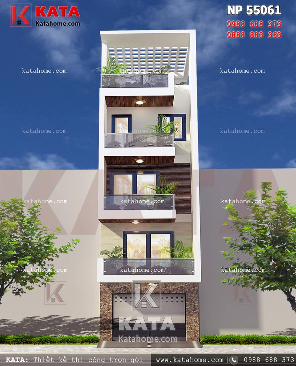 Giải pháp thiết kế nhà lô phố 5 tầng đẹp hoàn hảo