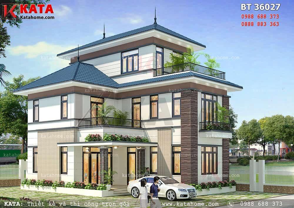 Mẫu nhà 3 tầng đẹp BT 36027