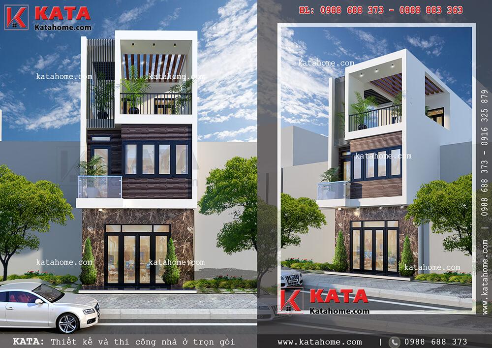 Kiến trúc nhà lô phố đẹp 3 tầng tại Đà Nẵng – Mã số: NP 35056