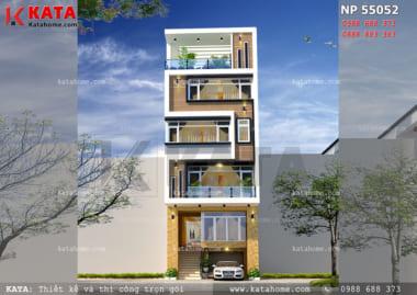 thiết kế nhà phố 5 tầng đẹp NP 55052