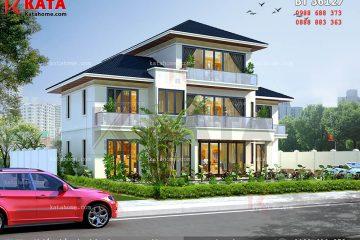 Phối cảnh toàn thể mẫu nhà 2.5 tầng đẹp tại Lai Châu - Mã số: BT 36127