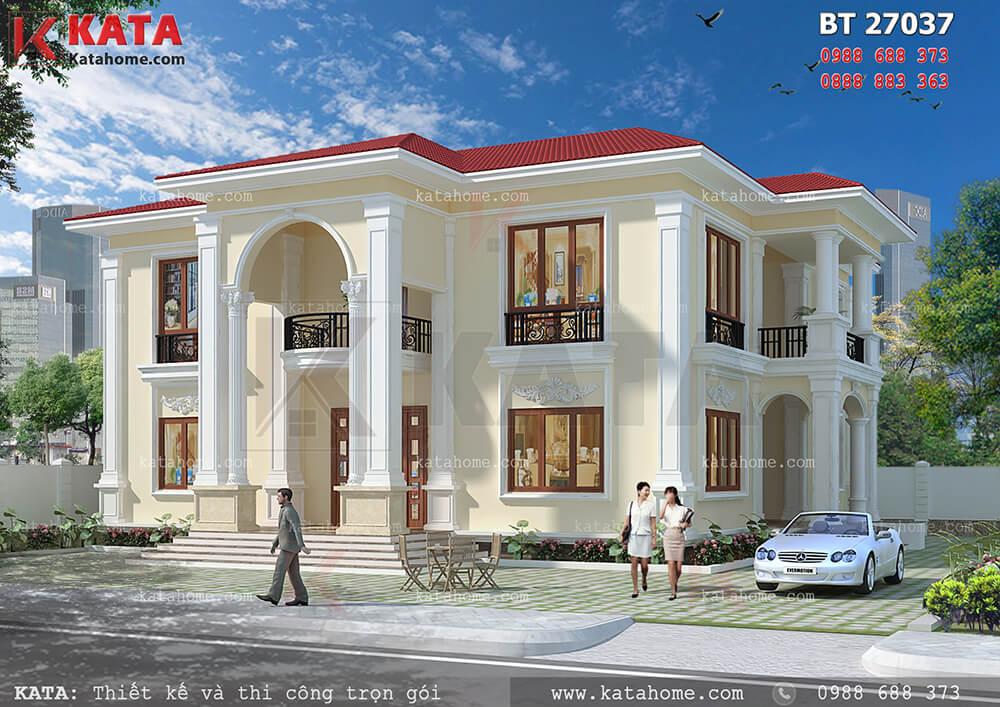 Mẫu biệt thự đẹp 2 tầng sân vườn tại Quảng Ninh – Mã số: BT 27037