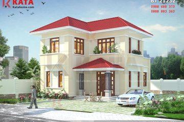 Phối cảnh chi tiết bản thiết kế nhà 2 tầng đẹp ở nông thôn - Mã số: BT 21232