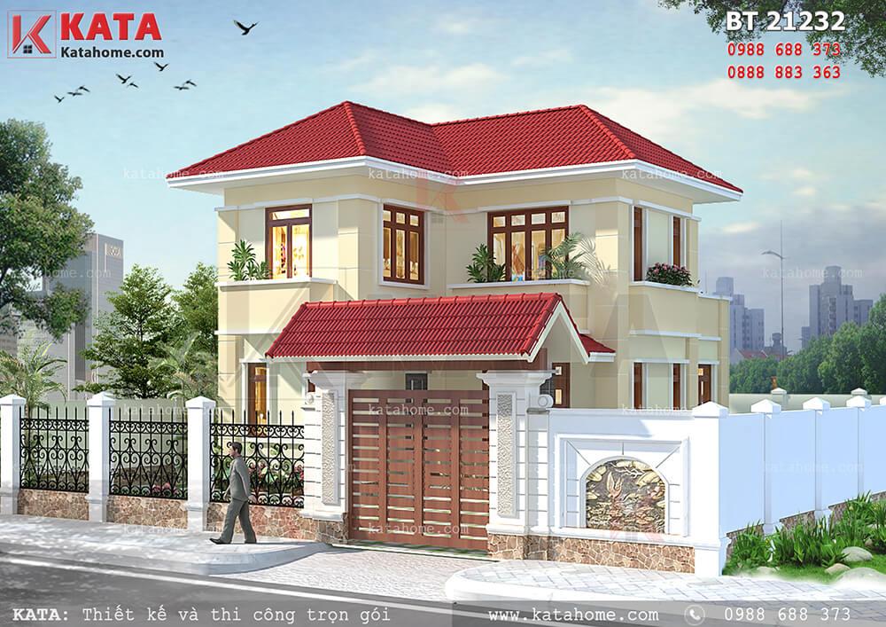 Mẫu thiết kế nhà 2 tầng ở nông thôn đẹp tại Quảng Trị – Mã số: BT 21232
