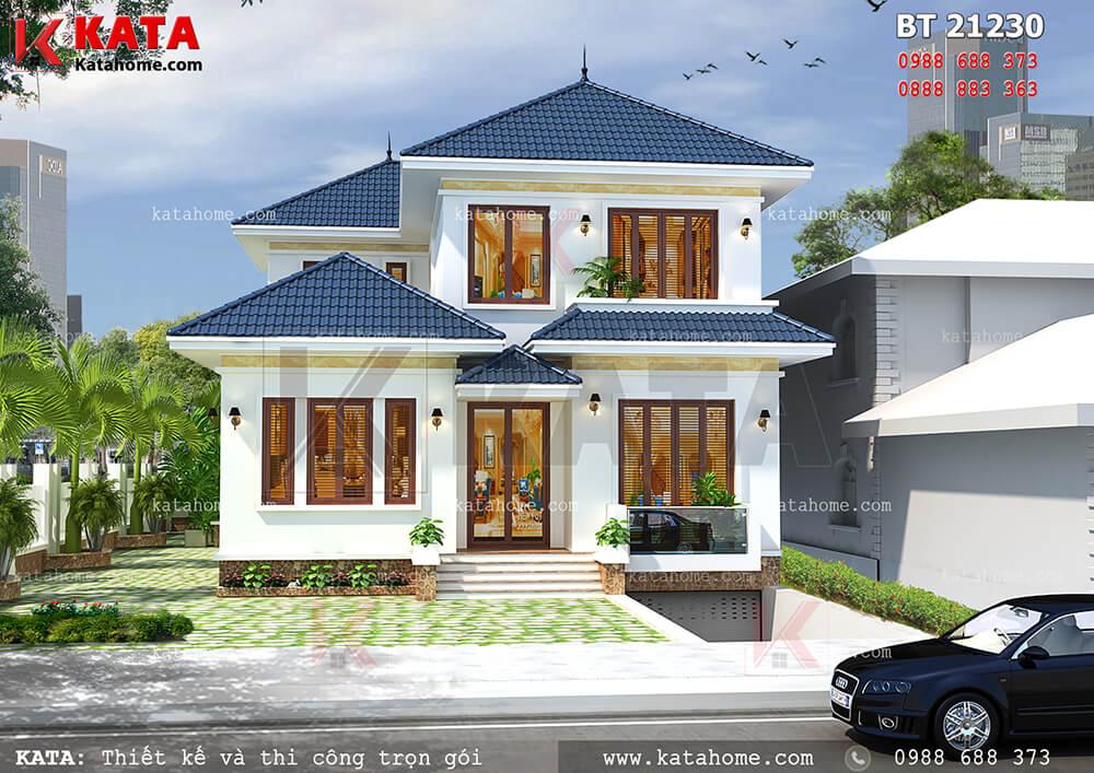 Toàn mẫu mẫu thiết kế biệt thự vườn 2 tầng hiện đại tại Vĩnh Phúc - Mã số: BT 21230