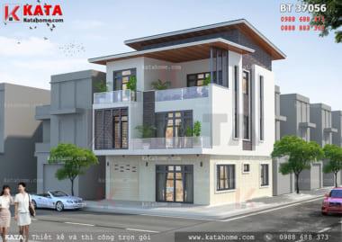 Phối cảnh chi tiết thiết kế biệt thự 3 tầng hiện đại tại Nam Định - Mã số: BT 37056