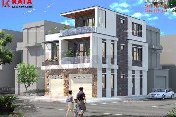 Mẫu thiết kế biệt thự hiện đại 3 tầng được thiết kế theo phong cách kiến trúc hiện đại