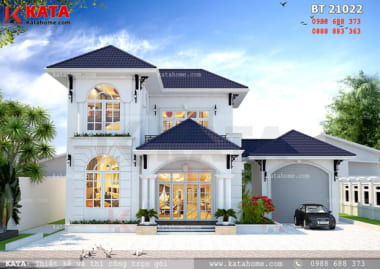 Phối cảnh chi tiết mẫu nhà biệt thự mini 2 tầng tại Đồng Nai - Mã số: BT 21022
