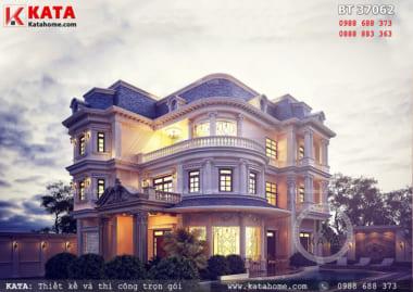 Thiết kế nhà 3 tầng kiến trúc Pháp tân cổ điển tại TPHCM – Mã số: BT 37062